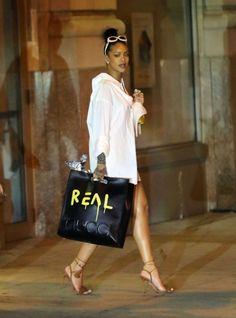 Street style celebrites sacs stars mode Rihanna