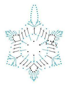 Вязаные снежинки. Схемы.