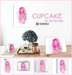 Buy prints & more @ RedBubble: http://www.redbubble.com/people/ireneubik/works/26820089-cupcake  'Cupcake'    #redbubble #homedecor #stationery #pink #cupcake #icecream #digitalart #art #drawing #fantasy #female #gijinka #humanization #humanized #inspiration #mixedmedia #brony #bronies #nsfw #classicnude #nude #portrait #pinkhair #pinkskin #happy #smile #cute #summer #kawaii #ireneubik