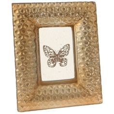Stonebriar Collection 4'' x 6'' Frosted Frame (Gold) ($35) ❤ liked on Polyvore