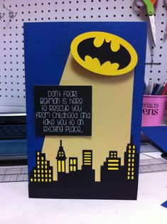 Batman Birthday Card from Pink and Paper.