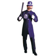 Blue Keystone Cop Extra Large Halloween Costume for Men