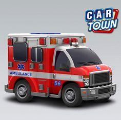 ¡Conéctate a Car Town ahora para agarrar la nueva Ambulancia para ti!     Colores fuertes y luces piscando para que sepas que la Ambulancia Car Town está trasportando una carga muy importante. ¡Añade hoy este Camión de Servicio de emergencia para tu taller! Vuelve mañana para chequear más camiones útiles.    20/09/2012
