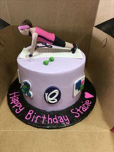 Exercise themed cake