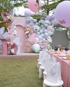 Baby Shower Gender Reveal, Baby Shower Themes, Baby Shower Decorations, 1st Birthday Girl Decorations, Birthday Party Themes, Butterfly Theme Party, Baby Shower Princess, Baby Shower Balloons, Baby Party