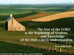 Day 297 (October 24) Inspirational illustration of Proverbs 9:10 -- The fear of the Lord is the beginning of wisdom, and knowledge of the Holy One is understanding.