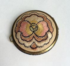 Antique Embroidered Compact Coty by WhirleyShirley on Etsy https://www.etsy.com/listing/254103732/antique-embroidered-compact-coty