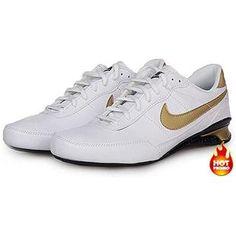 www.asneakers4u.com Mens Nike Shox R2 White Black Gold