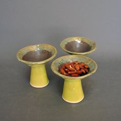 Ceramic fun dishes.  Make great serving dishes for olives, nuts, mints.  by KrisCravensPottery