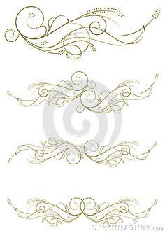 Decorative shapes for wedding invitations, restaurant menus or wine cards.
