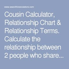 cousin relationship facts