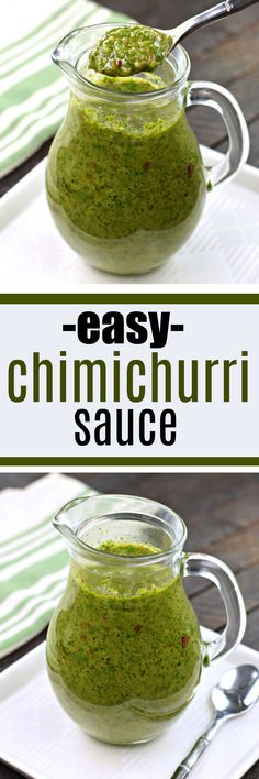 Chimichurri is an uncooked sauce originating from Argentina and pairs perfectly with grilled meats. It's a colorful blend of fresh herbs and spices and can be used as a topping or a marinade. #texmex #chimichurri #freshherbs