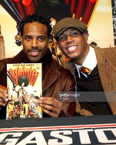 Shawn Wayans and Marlon Wayans during 'Super Bad James Dynomite' Comic Book Signing with Marlon and Shawn Wayans in Los Angeles, California, United States.