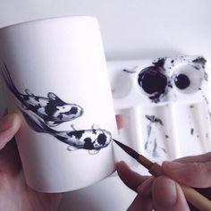 Peintures délicates et céramique de Niharika Hukku - Journal du Design