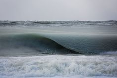 Ocean waves in Nantucket are so cold, they