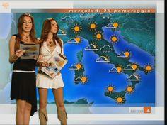 """""""Meteorine"""" Due donne alla conduzione del meteo  inserito all'interno del TG4 condotto da Emilio Fede."""