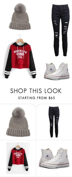 """comfy/cute"" by pmm122526 ❤ liked on Polyvore featuring Eugenia Kim and Converse"
