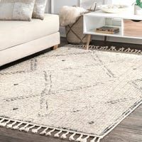 Shop The Curated Nomad Diamond Heights Ivory Handwoven Wool Casual Moroccan Raised Chevron Shag Rug - On Sale - Overstock - 26890637 Moroccan Area Rug, Square Rugs, Area Rugs For Sale, Geometric Rug, Online Home Decor Stores, Online Shopping, White Area Rug, Cool Rugs, Rugs Online