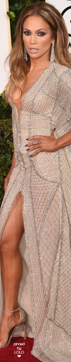 Jennifer Lopez in Zuhair Murad 2015 Golden Globe Awards   LOLO❤︎