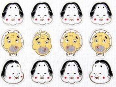 Cute Japanese Chiyogami Paper Hyottoko Okame by FromJapanWithLove, $6.50