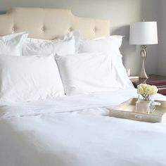 Creating a layered look is easier than you think! Watch this video and follow these steps to create the perfect, layered bed—from the fitted sheet to the final