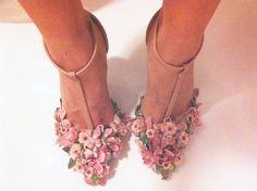 DIY embellished heels.** Pretty for Spring.