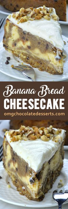 This is melt-in-your-mouth, delicious combo of smooth and creamy vanilla cheesecake and the moistest chocolate chip banana bread. Moist Banana Bread, Chocolate Chip Banana Bread, Banana Bread Cheese Cake, Banana Cheesecake Bread, Cream Cheese Cheesecake, Chocolate Cheesecake, Chocolate Chips, Cheesecake Recipes, Dessert Recipes