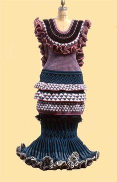 dress by crochet artist Xenobia Bailey