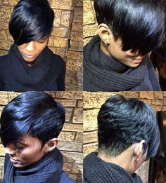 Spiffy Black Synthetic Boy Haircut Straight Capless Wig For Women