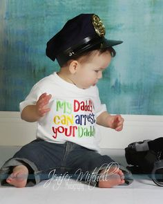 My Daddy Can Arrest Your Daddy custom saying shirt by IzzyBTees1, $21.00
