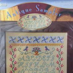 Antique Sampler Cross Stitch Kit 14 Count Alphabet on Aida by StitchWorld #StitchWorld #Sampler