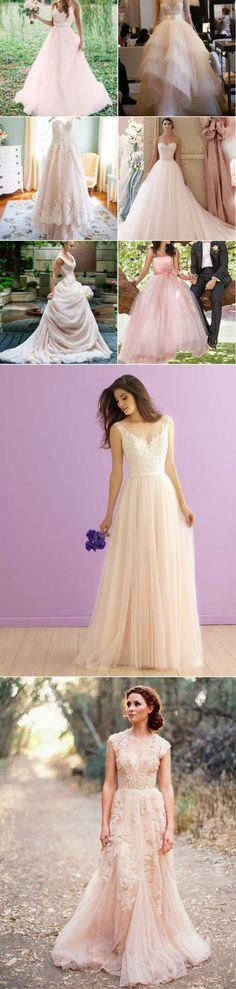 Blush Pink Colored Wedding Dresses
