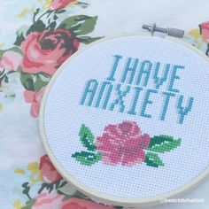 I'm just so in love with this recent #anxiety stitch - the colors, the flower, everything! this pattern is now in the shop!…