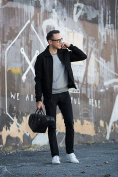 Elevated Off-Duty: Wool Bomber Jacket