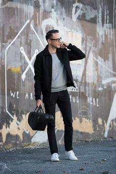 #jeans #sweatshirt #jacket #sneakers #grey #black #white #style #menstyle #manstyle #menswear #fashion #mensfashion