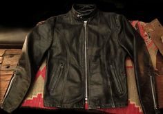 Iron Crow Rockin Vintage - On Sale for Halloween only! Sweet! Vintage 60's Schott style 156 black Steerhide Cafe Racer with Serval Zippers size 44 US, $210.00 (http://www.ironcrowvintage.com/products/on-sale-for-halloween-only-sweet-vintage-60s-schott-style-156-black-steerhide-cafe-racer-with-serval-zippers-size-44-us.html)