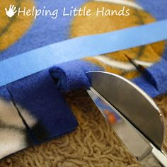 """Pieces by Polly: Double Layered No-Sew """"Braided"""" F. Pieces by Polly: Double Layered No-Sew """"Braided"""" Fleece Blanket Tutorial Fleece Tie Blankets, No Sew Fleece Blanket, No Sew Blankets, Fleece Scarf, Diy Scarf, Baby Blankets, Make A Tie, How To Make Scarf, Braided Fleece Blanket Tutorial"""