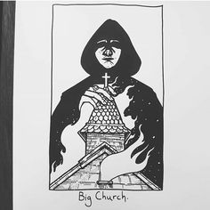 Big Church. Sunn 0))) tribute piece, to be part of a show at @eridanostattoo in the coming months. Loads of other great artists getting involved too.