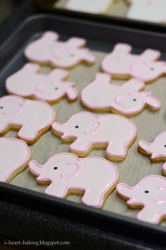 i heart baking!: pink and white baby shower cookies and macarons
