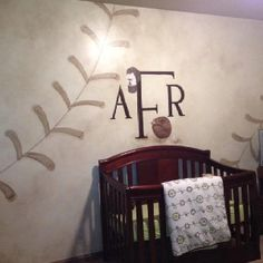 Baseball nursery - I love the wall!