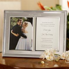Mother of the Bride and Groom Gifts - Vera Wang Wedding Photo Invitation Frame | #exclusivelyweddings