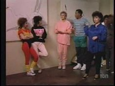 """From the episode, """"La Place Sans Souci"""" where Suzanne takes the gang to a health spa weekend and is here showing her morning exercise regimen...St. Louis Blues!"""