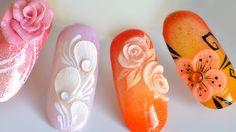 Quelques idées nail art : One Stroke, 3D et 4D, aquarelle… | Tartofraises