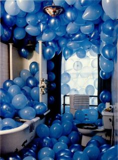 at least once in my life i will fill a room with balloons.(just not the bathroom)