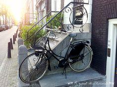 Amsterdam - bike ride and sunset, the perfect combination! www.aruralchiclifestyle.com Amsterdam Bike, Amsterdam Travel, Trips, Bicycle, Sunset, Viajes, Bike, Bicycle Kick, Traveling