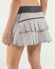 Lululemon PaceSetter Skirt ~ Hyper Stripe Angel Wing/Soot Light/Slalom Stripe Angel Wing ~