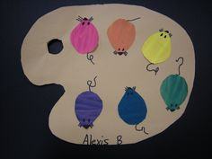 "Artolazzi: 1st grade tie in with ""mouse paint""!"