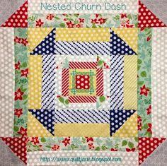 Quilt Jane/nested churn dash