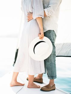 And This Is Why A Sailboat Is Our New Engagement Shoot Essential - http://www.stylemepretty.com/california-weddings/2016/08/23/sailboat-engagement-shoot-venue-santa-barbara/