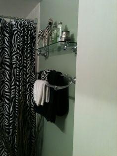 My Zebra Themed Bathroom